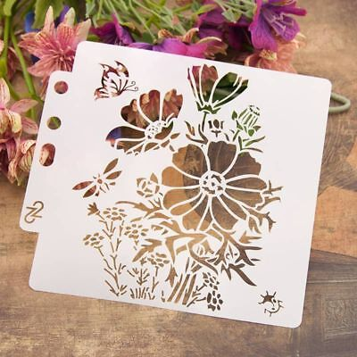 Flower Stencils Template Painting Scrapbooking Embossing Stamping Album Crafts