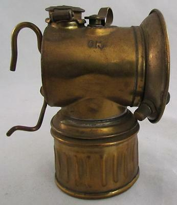 Vtg JUSTRITE Mining Miners Lamp Light Mine To Hook On A Hat NICE !!!!!!!!!!!!!!!