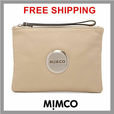 Mimco Medium Pouch Matte Pancake Rose Gold Bnwt Rrp$99.95- Df