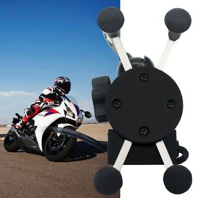 X-Grip RAM Motorcycle Car Mount Cellphone Holder USB Charger For Phone U9Q5