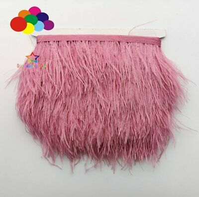 Leather Pink 1/5/10 Meter Ostrich Feather Cloth Trims 3.15-6Inch/8-15Cm Carnival