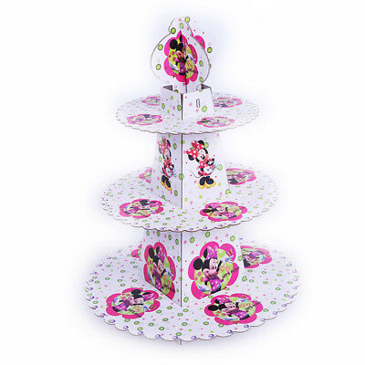3 layer Minnie Mouse Cake Cupcake Dessert Stand Kids Girls Birthday Party Deco