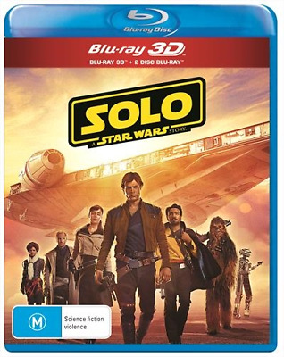 Solo - A Star Wars Story (3D/2D Blu-ray, 2018) (Region B) New Release