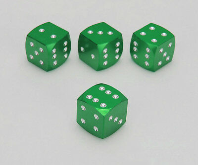 4 Pcs New Dice Style Universal Wheel Tire Valve Stems Caps Air Dust Covers