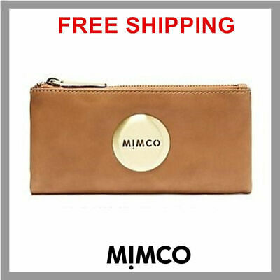 MIMCO HONEY MIM FOLD WALLET Gold button Sheep Leather genuine BNWT RP179 DF