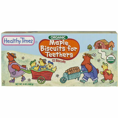 Healthy Times Organic Biscuits for Teethers Maple 12 Biscuits 6 oz (168 g)