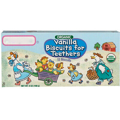 Healthy Times Organic Vanilla Biscuits for Teethers 12 Biscuits 6 oz (168 g)
