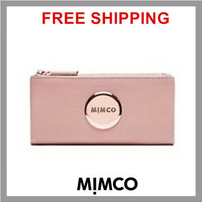 MIMCO SHELL PINK MIM FOLD WALLET Rose Gold  Sheep Leather genuine BNWT RP179 DF