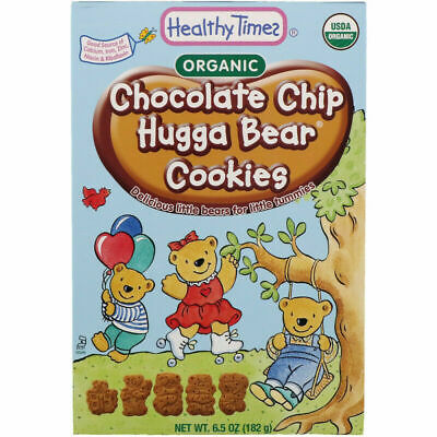 Healthy Times Organic Hugga Bear Cookies Chocolate Chip 6.5 oz (182 g)