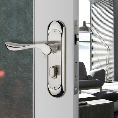 New Full Set Privacy Door Security 304 Stainless Steel Mortise Lever Handle Lock