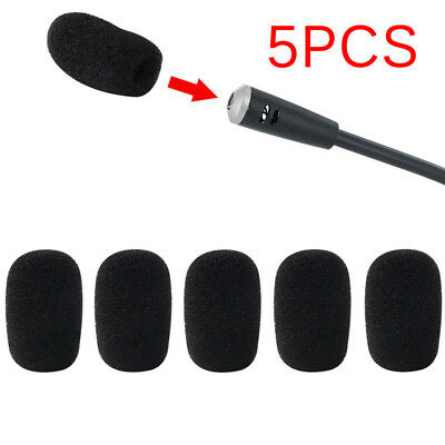 5x Mic Microphone Windscreen Soft Foam Pad Mic Cover Holder Sponge Skin_FT