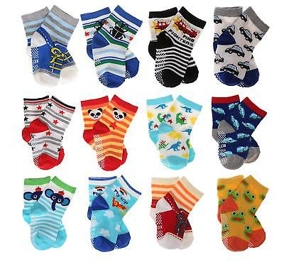 Baby'sToddler Cute 12-pair Thick Warm Cotton Socks (Anti-slip 1 to 3 Years Old)