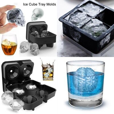 ICE Balls Maker Diamond Sphere Tray Mold Cube for Whiskey Cocktails Silicone AU