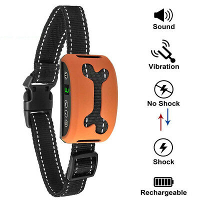 Anti Barking Dog Shock Bark Collar Electric Training Rechargeable Pet Trainer
