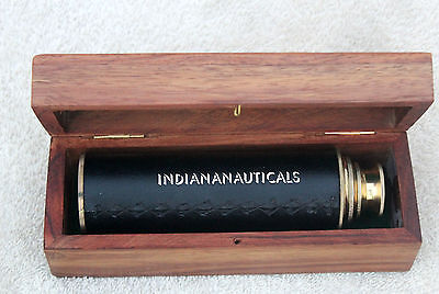Nautical Vintage Style Brass Telescope With Box Maritime Navigational Telescope