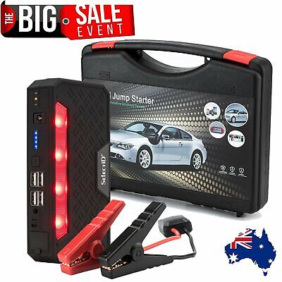 400A 4 USB 68800mAh Car Jump Starter Jumper Start Battery Charger Power Bank AU