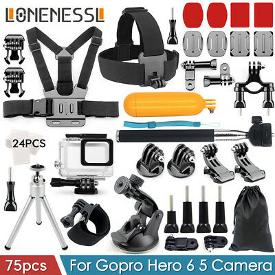 Accessories Pack Head Chest Monopod Mount housing  case for GoPro HD Hero 6 5 AU