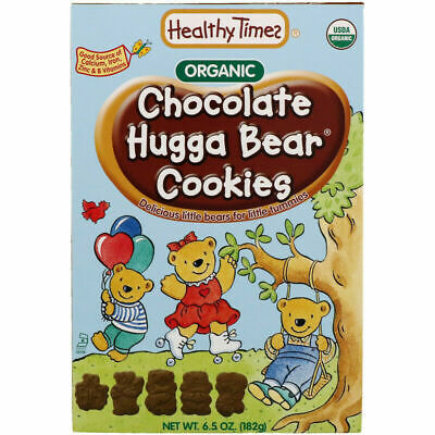 Healthy Times Organic Hugga Bear Cookies Chocolate 6.5 oz (182 g)