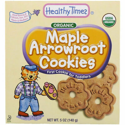 Healthy Times Organic Arrowroot Cookies Maple 5 oz (140 g)