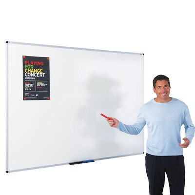 Extra Large Magnetic White Board Dry Wipe Aluminum Frame School Office Notice UK