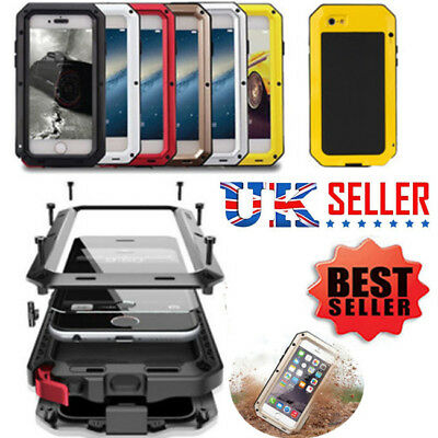Heavy Duty Shockproof Armor Tough Hybrid Metal Anti Case For iPhone 5 6 7 8 Plus