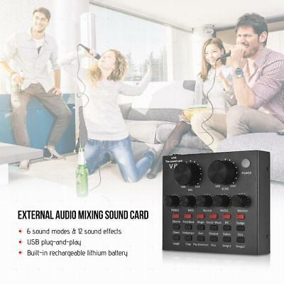 External Audio Mixing Sound Card USB Audio Interface with Multiple Sound Z8F8