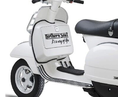 Northern Soul Sticker 300mm to fit Vespa Scooter PX T5 Tool Box Sidepanel TB001