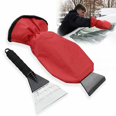 Migimi Ice Scraper Mitt Windshield Snow Scraper with Glove & Long Handle for Car
