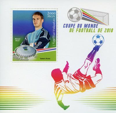 Madagascar 2018 MNH World Cup Football Russia Manuel Neuer 1v S/S Soccer Stamps