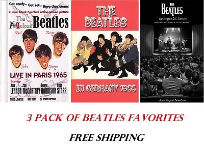 The Beatles Live in Paris (1964) In Germany (1962) In Washington (1964)  DVD Set