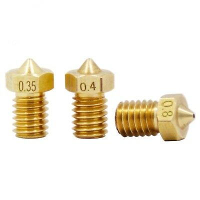 3D Printer V5 V6 Nozzle 1.75mm Filament M6 assorted sizes