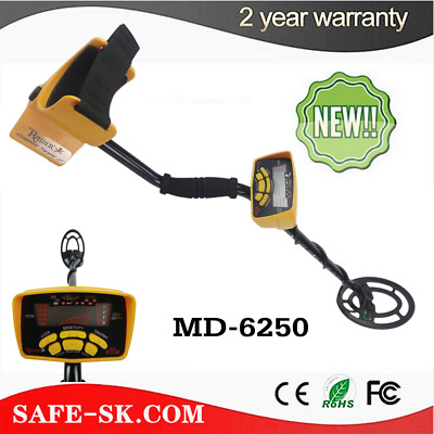 Md-6250 Metal Detector Gold Digger Light Hunter Deep Sensitive Search Lcd