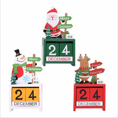 Factory Direct Christmas Decoration Christmas Wooden Calendar Desktop Decora  N2