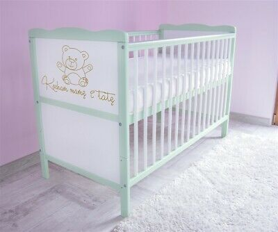 Wooden Baby Cot Bed 3x1 Converts to Junior Bed ✔  Kocham Mame i  Tate 120x60