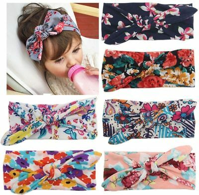 SIX Baby Girl Headbands Headdress Hair Accessories Floral Design Bow Colourful