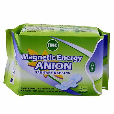 NEW BRANDED Imc Magnetic Energy Anion Sanitary Napkins 10 PADS EACH PACK