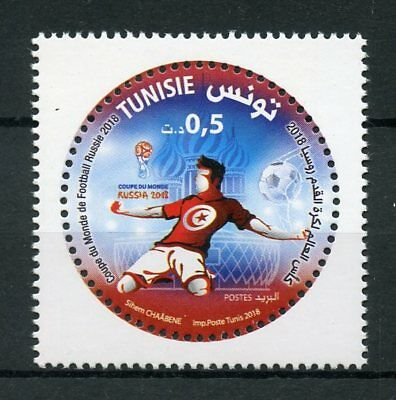 Tunisia 2018 MNH World Cup Football Russia 2018 1v Set Soccer Sports Stamps