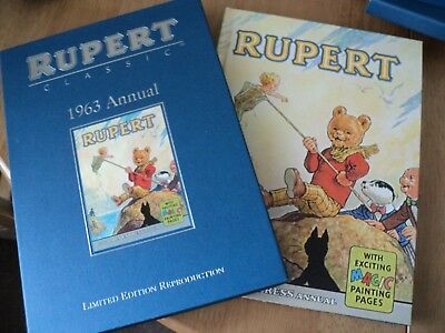 RUPERT CLASSIC 1963 ANNUAL LIMITED EDITION REPRODUCTION Hardback with slipcase