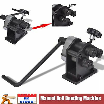 Manual Cast Iron Roll Bending Machine Rolling Bender Tool Solid Heavy DutyMetal