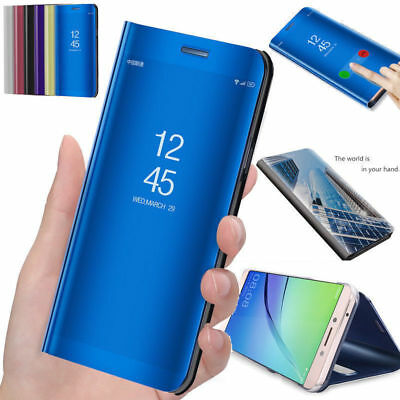 Mirror Flip Phone Case Smart Stand Cover for Samsung Galaxy S7 S8 S9 Plus Note 9