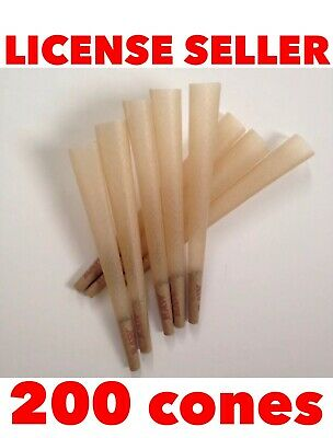 raw classic king size cone pre rolled with filter (200 packs) 100% AUTHENTIC