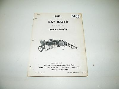 Ford Hay Baler Series 506 (350) & 540 Parts Catalog Sept 1965 PA-6732-B