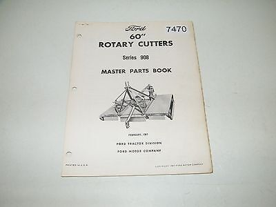 "Ford 60"" Rotary Cutters Series 908 Parts Catalog Feb 1967 PA-4000-A"