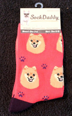 Pomeranian Dog Breed Lightweight Stretch Cotton Adult Socks