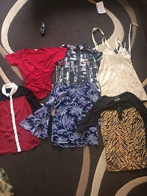 Ladies Size 10 Tops Joblot Bundle x6 Oasis Monsoon River Island H&M New Look