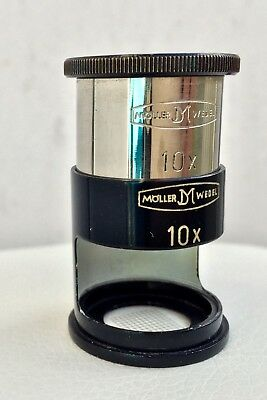 Möller Wedel Lupe 10x Loupe Magnifying glass Magnifier Germany Münzen Coin