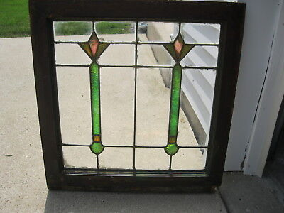 Architectural Salvage Antique Stained Glass Window Arts & Crafts Period