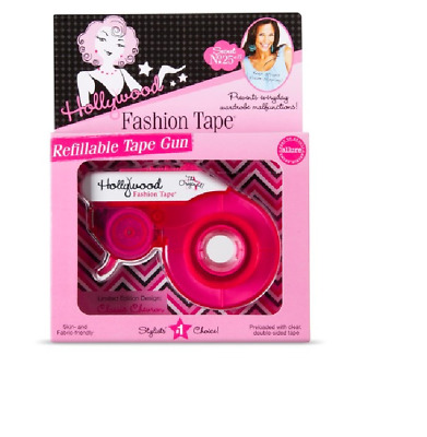 Hollywood Fashion Tape Refillable Tape Gun with Clear Double-sided Tape