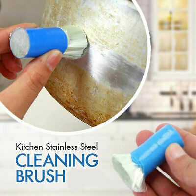 Magic Stainless Steel Metal Wash Brush Rust Remover Cleaning Kitchen Tool Useful