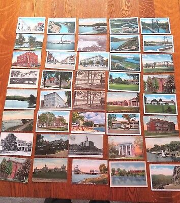 Mixed Lot Of 40 Antique And Vintage Places Postcards Early 1900s  #117